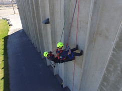 Wise and Christensen at the High Angle Rescue Training