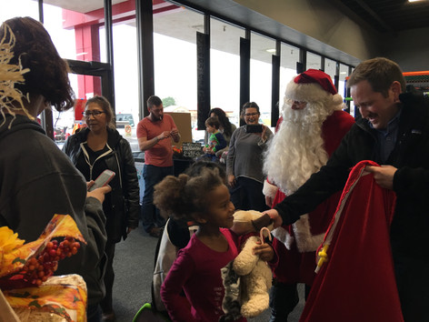 Santa at the Community Center