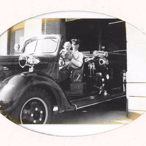 Earl Rodgers driving a 1939 Ford LaFrance Engine 2