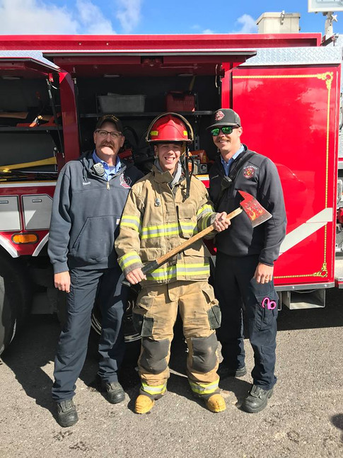 Lt. Tweedy, Chad Bennett, and Drew McConnell