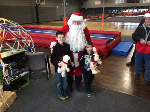 Santa visiting the Community Center