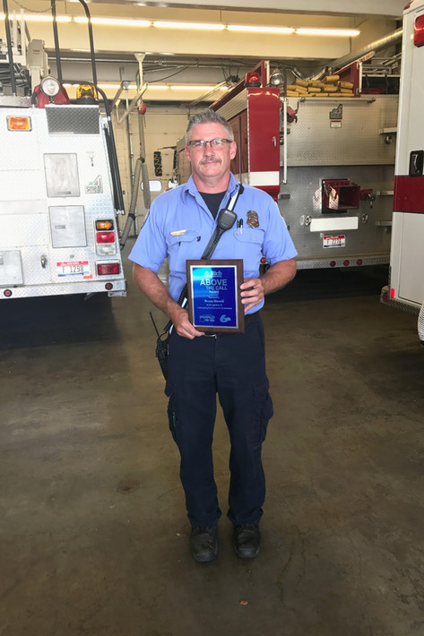 Lieutenant Bryon Howell won the Above the Call Award! Presented by Rich Broadcasting, Pocatello Nissan Kia, and News Channel Six!