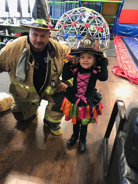 Krumenacker and his shift responded to a fire alarm at the Community Center. Dave met a cute witch named Hayvn