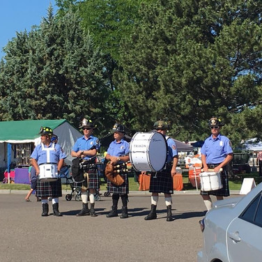 Talamantes, Christensen, Getsinger, Mickelson, and Aaron Christensen performing at the Celebrate Blackfoot Days