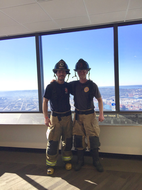Wise and Falter completed the stairclimb in Washington!