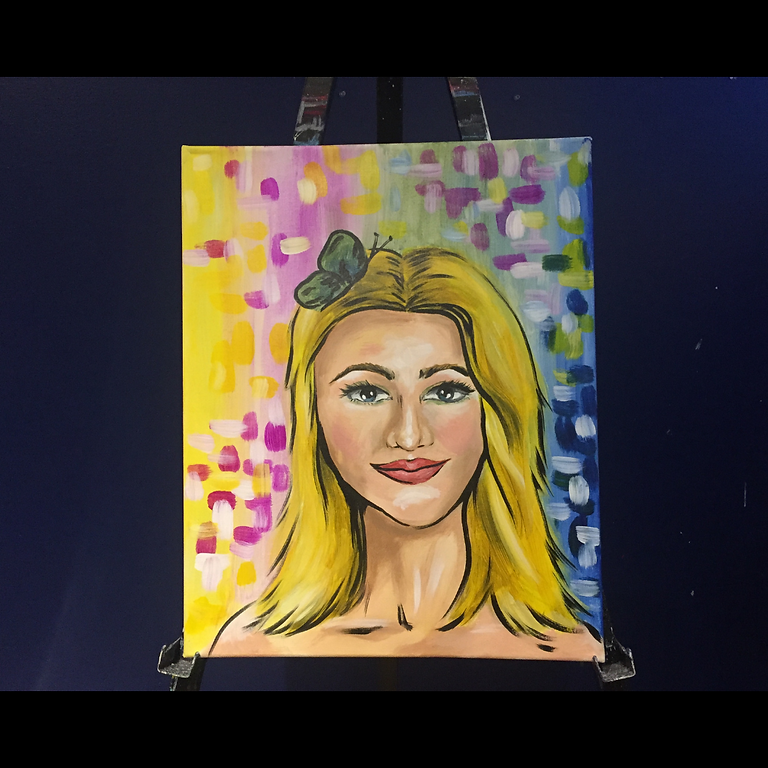 """Vino & Vision: Arts & Coaching Activity Self-Discovery: """"DISCovery Selfie"""" Painting Class (1)"""