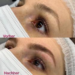 Augenbrauen Zupfen und Färben