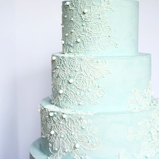 Lace wedding cake erie pa