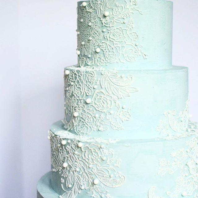 Lace wedding cake erie pa