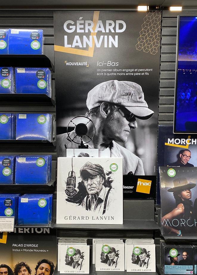 Album Ici-Bas Gérard Lanvin, FNAC, Manu Lanvin,  Photo: Laetitia Benady