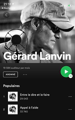 Spotify Gérard Lanvin ©Laetitia Benady