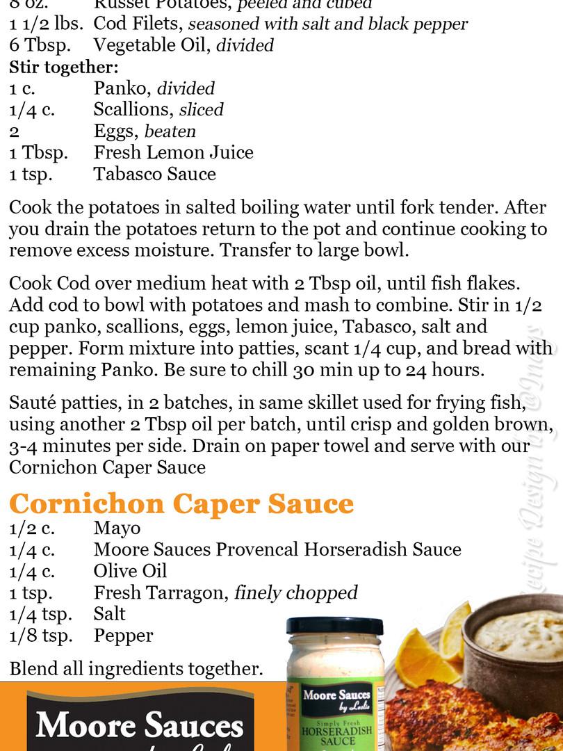 Leslie's Crispy Cod Cakes