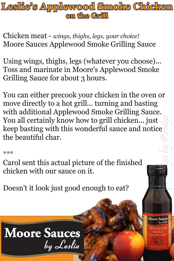 Leslie's Applewood Smoke Chicken