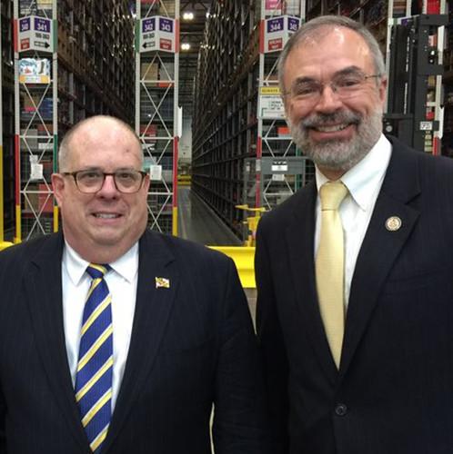 Gov. Hogan & Andy at Amazon Cecil Co