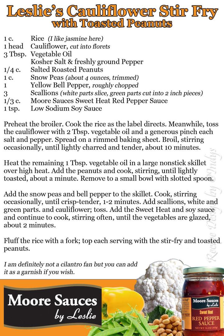 Leslie's Cauliflower Stir Fry