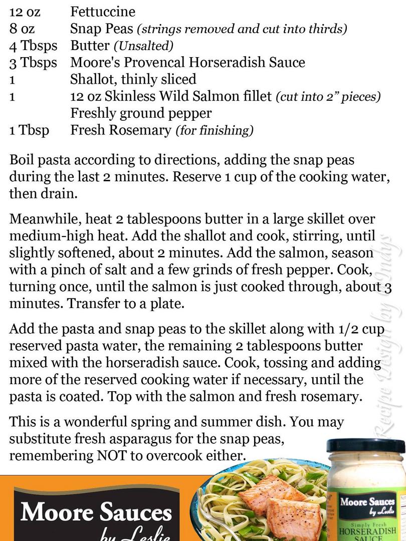 Leslie's Salmon Fettuccine