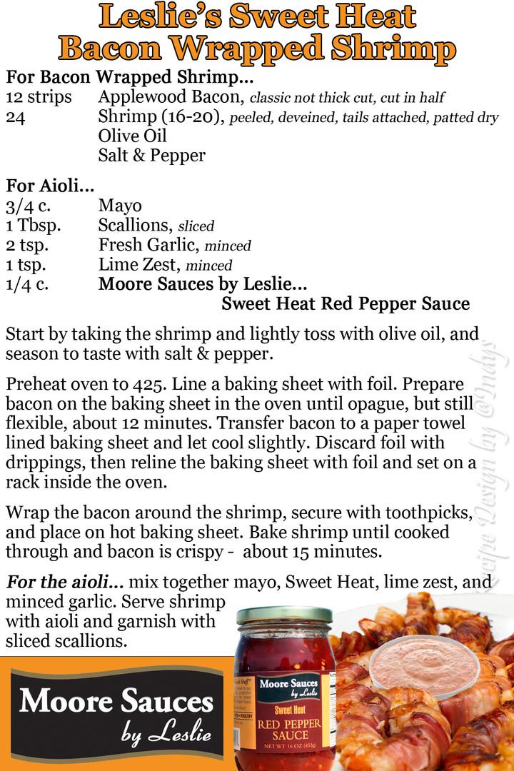 Leslie's Sweet Heat Bacon Shrimp