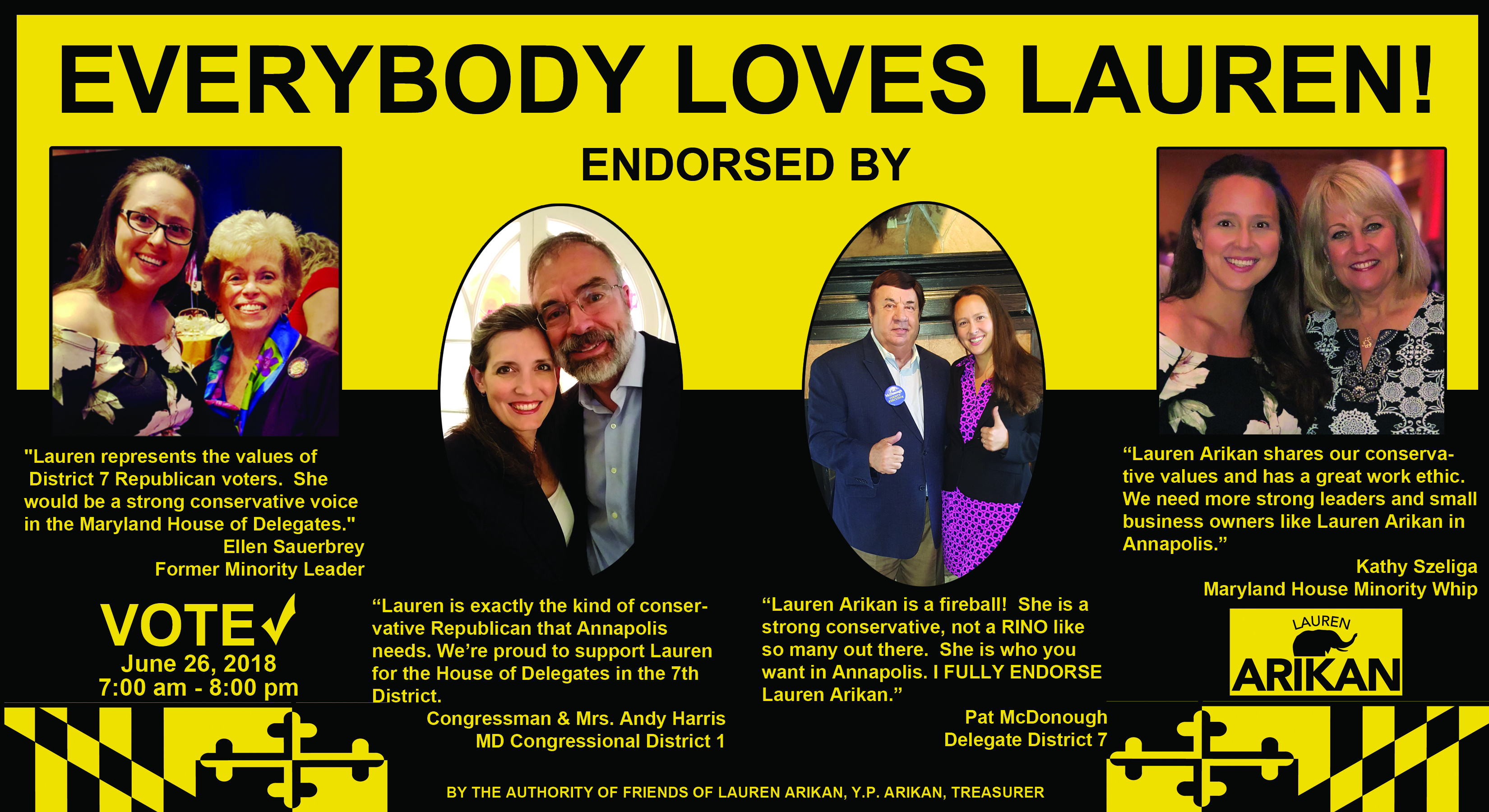 Lauren Arikan for Delegate mailer
