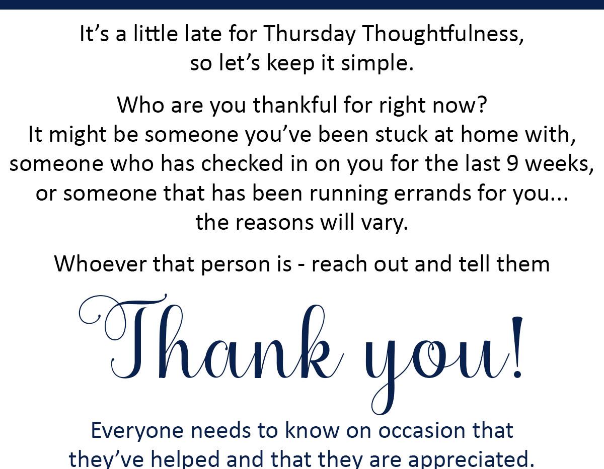 Thursday Thoughtfulness 10