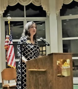 Speaking at Wico. Lincoln Day Dinner