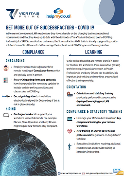GET MORE OUT OF SUCCESSFACTORS - COVID 1