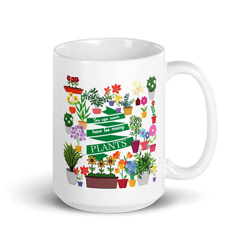 Never too many Plants Mug