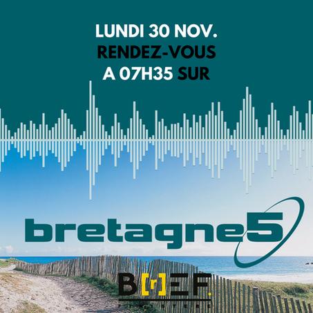 Maël Cordeau, président de Breizh Europe Finistère, présente l'association sur Bretagne 5