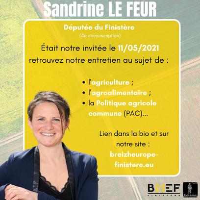 Sandrine Le Feur : la Politique agricole commune (PAC)