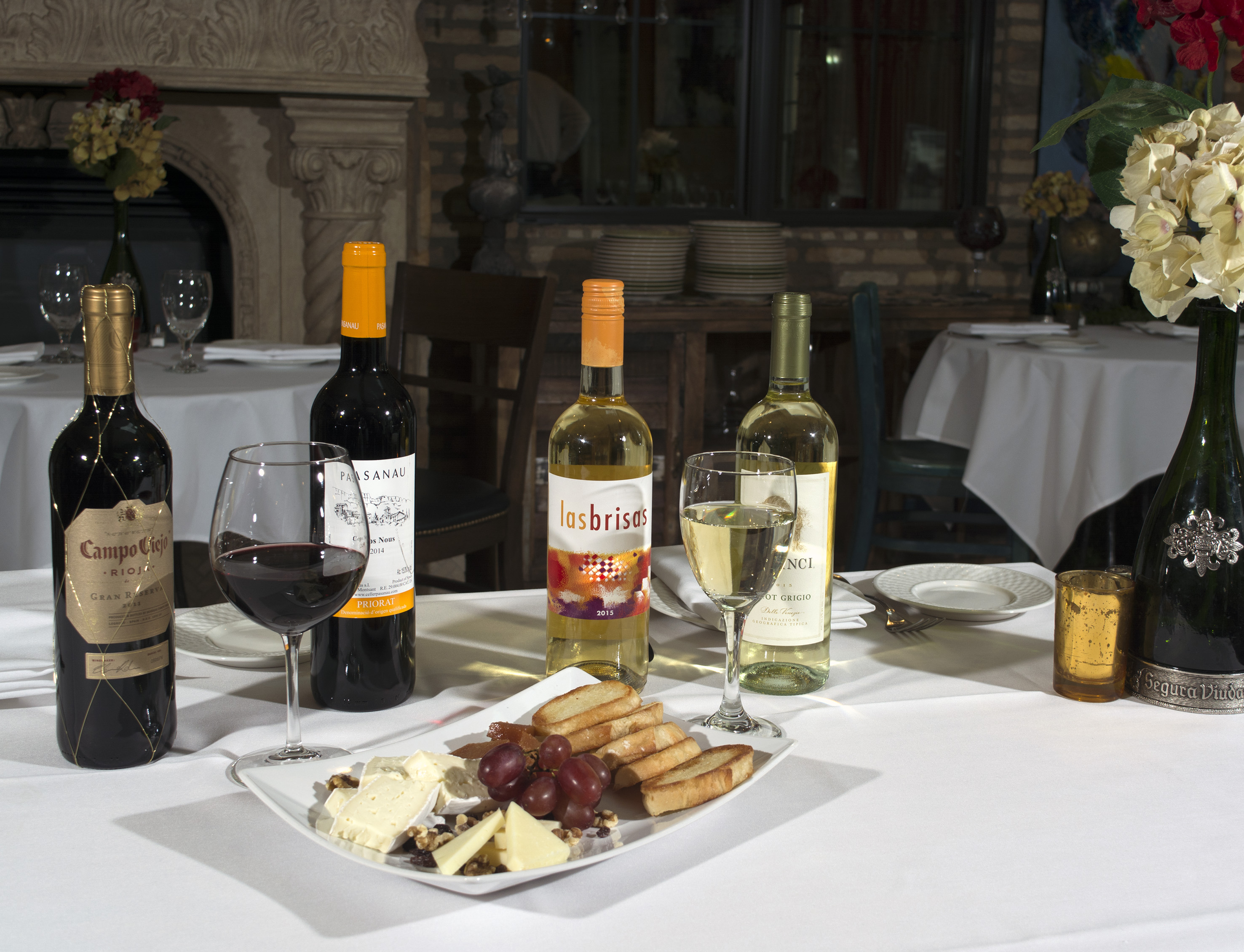 Wine and Cheese at Cafe Madrid
