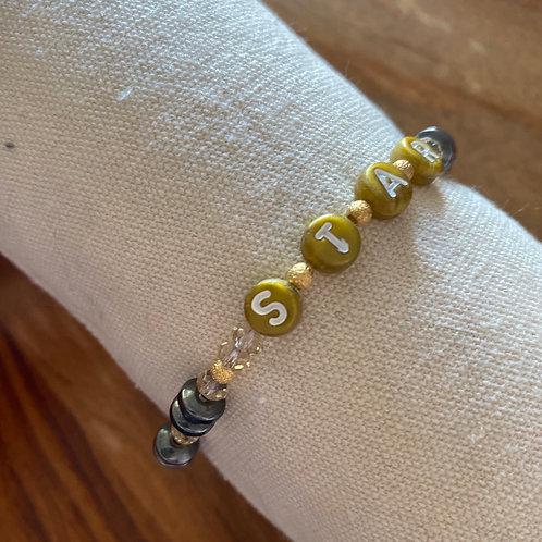 Bracelet lettre Star