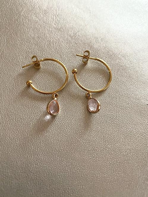 Mini-créoles pink
