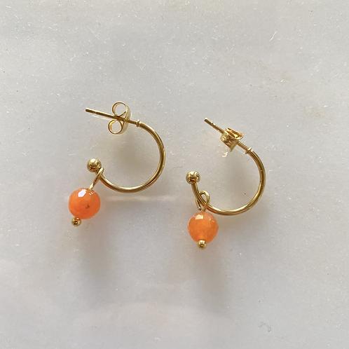 Mini créoles Orange