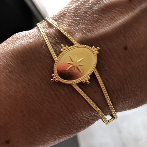 Bracelet jonc rose des vents