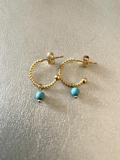 Mini-créoles turquoise