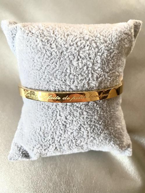 Bracelet message doré