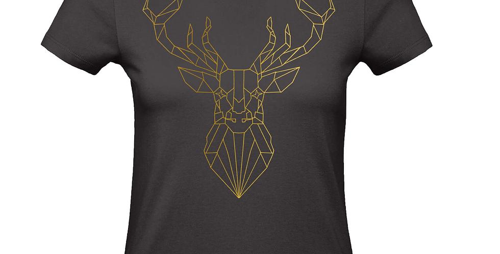 Damenshirt 'GeometriX Hirsch'