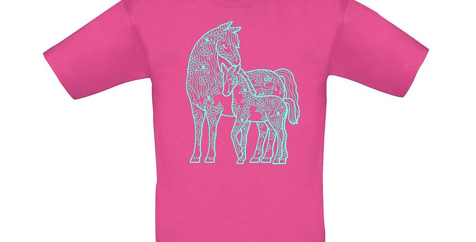 Kindershirt 'Pferde'