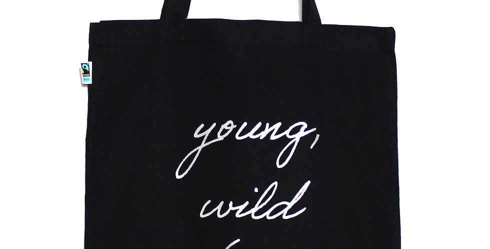 Stofftasche 'young, wild & free'
