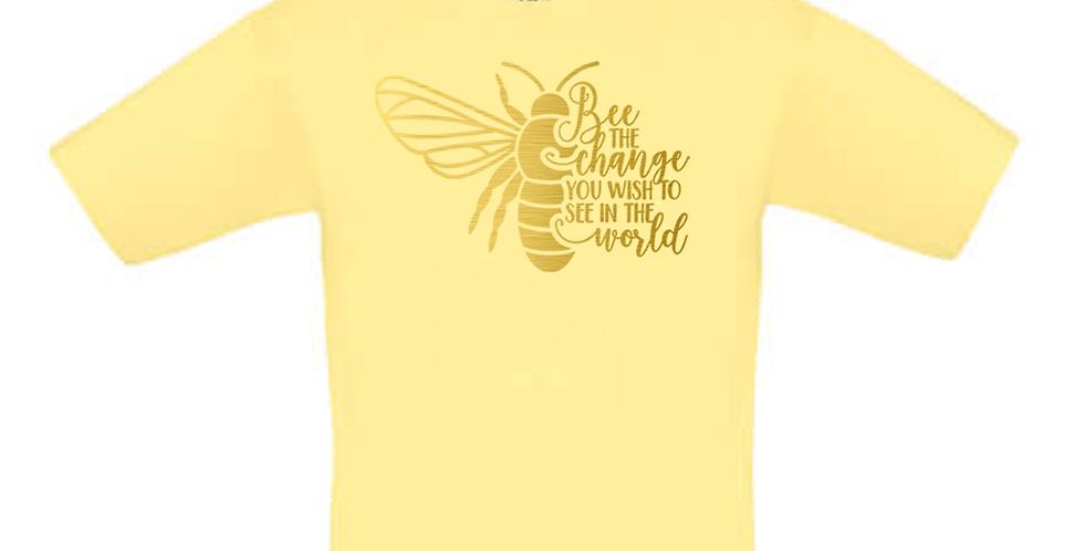 Kindershirt 'Bee the Change'