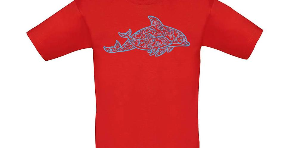 Kindershirt 'Delfine'