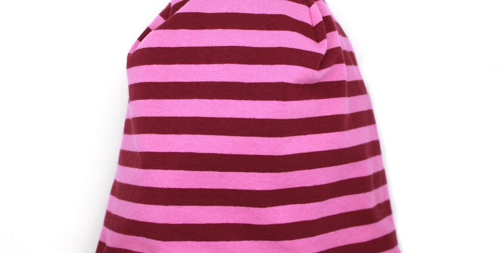 Wende-Beanie 'Wood&Stripes'