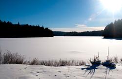 Algonquin Park lake snow covered