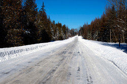 snowy road to nowhere