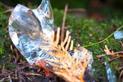 left over ice melting