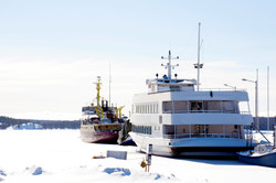 parry sound ships on a frozen lake