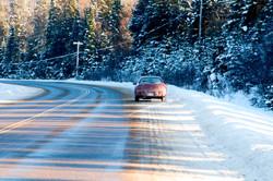 algonquin road in winter