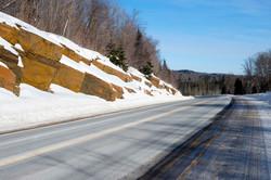 Snowy road Algonquin Park