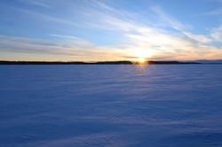 Georgian Bay snow covered sunset