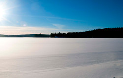 algonquin snow covered lakes