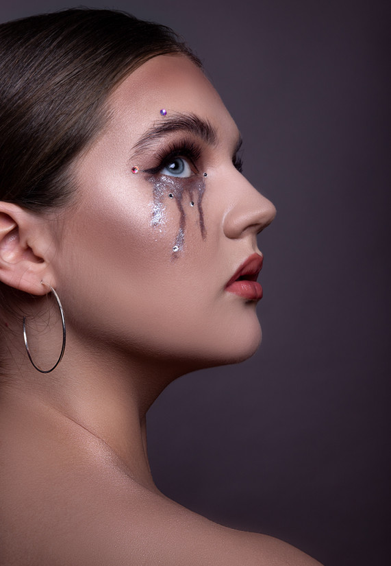 Creative beauty makeup of a young woman